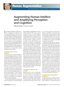 Augmenting Human Intellect and Amplifying Perception and Cognition