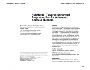 RunMerge: Towards Enhanced Proprioception for Advanced Amateur Runners