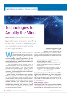 Technologies to Amplify the Mind