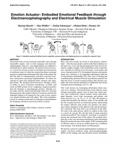 Emotion Actuator: Embodied Emotional Feedback Through Electroencephalography and Electrical Muscle Stimulation