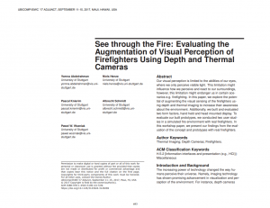 See Through the Fire: Evaluating the Augmentation of Visual Perception of Firefighters Using Depth and Thermal Cameras
