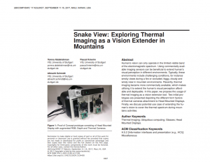 Snake View: Exploring Thermal Imaging As a Vision Extender in Mountains