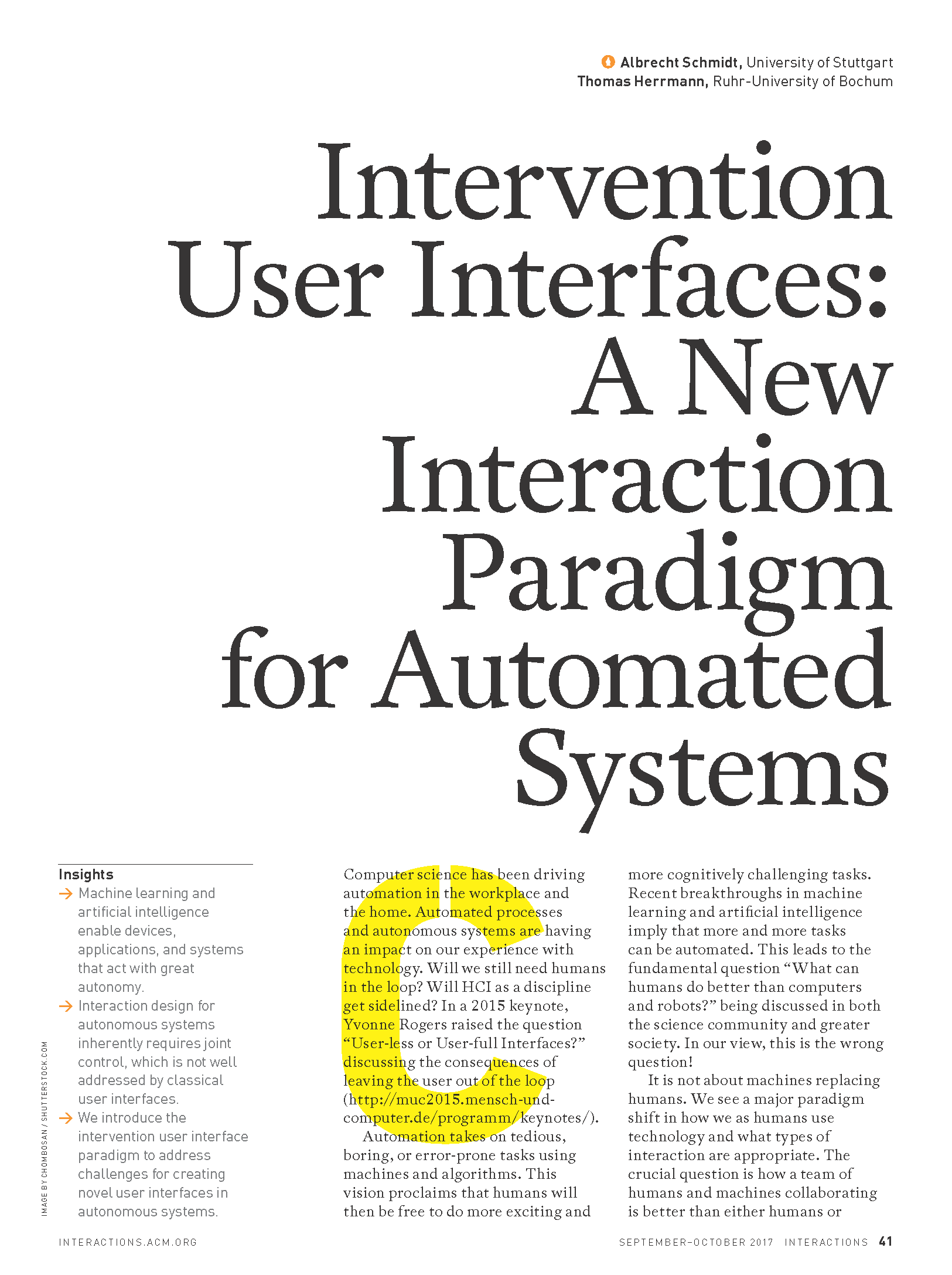 Intervention User Interfaces: A New Interaction Paradigm for Automated Systems